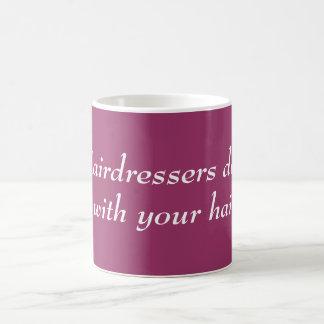 Hairdressers do it basic white mug