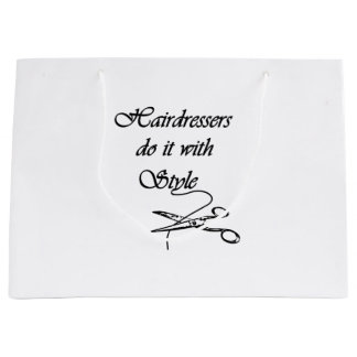 Hairdressers Do It With Style Large Gift Bag