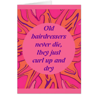 hairdressers retirement card