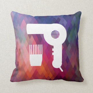 Hairdryer Brushes Pictogram Throw Pillow