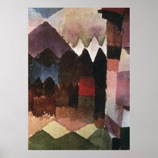 Hairdryer in Marc's Garden by Paul Klee (1915) Poster