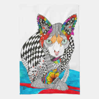 Hairless Sphynx Kitchen Towel (Customizable)