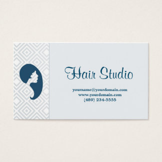 Hairstudio soft blue with fidelity business card