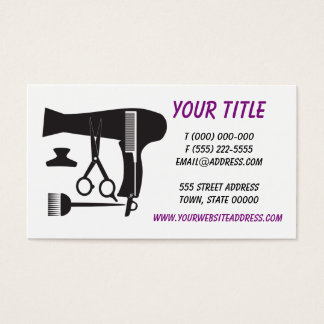 Hairstyles tools business card