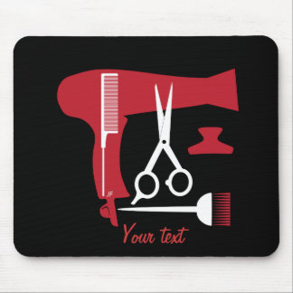 Hairstyles tools mouse pad