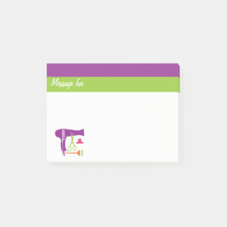 Hairstyles tools post-it notes