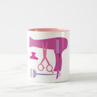 Hairstyles tools Two-Tone coffee mug