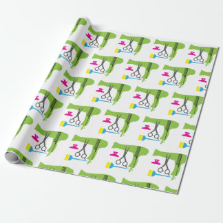 Hairstyles tools wrapping paper