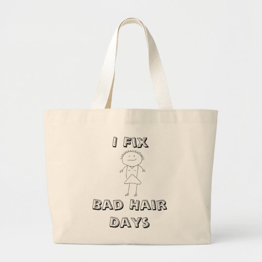 HairStylist Frenzy Large Tote Bag