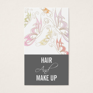 Hairstylist  Makeup Artist Business Cards