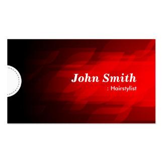 Hairstylist - Modern Dark Red Business Card Templates