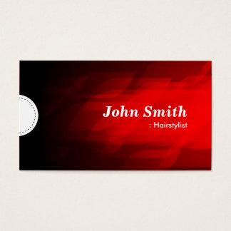 Hairstylist - Modern Dark Red Business Card