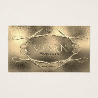 Hairstylist Scissors Glitter Glam Business Card