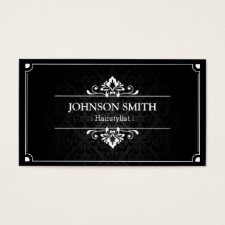 Hairstylist - Shadow of Damask Business Card