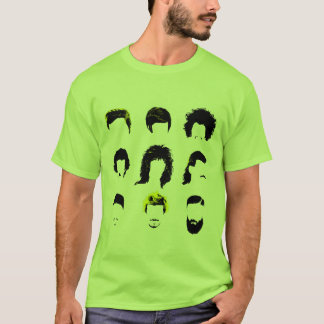 Hairvolution - Evolution of Men's Hairstyles T-Shirt