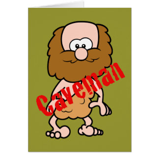 Hairy Caveman Greeting Card