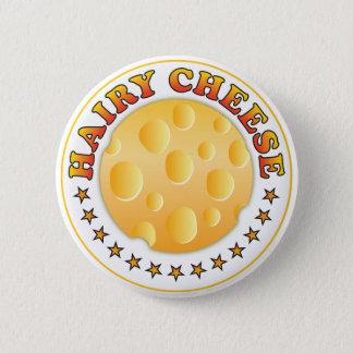 Hairy Cheese R 2 Inch Round Button