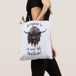 Hairy Highland Cow, Everyone's Scottish! Tote Bag