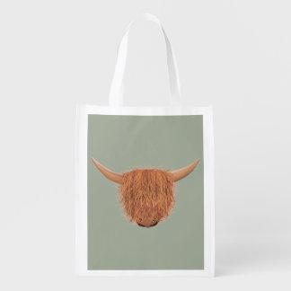 Hairy Highland Cow Reusable Bag