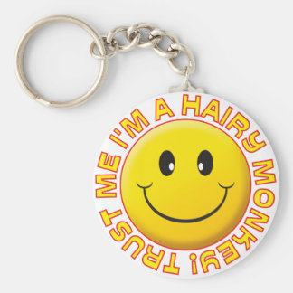 Hairy Monkey Trust Me Smile Keychain