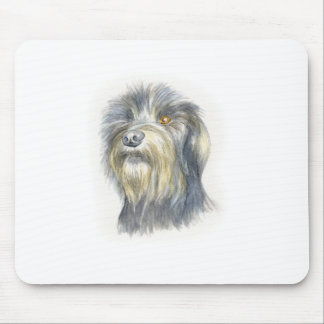 Hairy terrier mouse pad