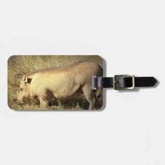 Hairy Warthog Luggage Tag