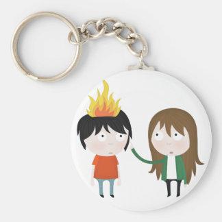 Hairy wildfire keychain