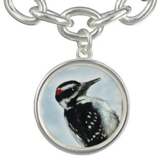 Hairy Woodpecker Charm Bracelet