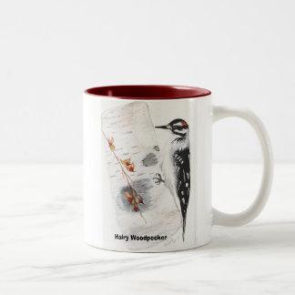 hairy woodpecker, Hairy Woodpecker Two-Tone Coffee Mug