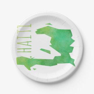 Haiti 7 Inch Paper Plate