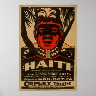 Haiti Black Napoleon Vintage 1938 WPA Poster