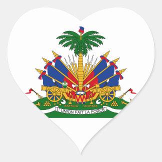 Haiti Coat of arms HT Heart Sticker