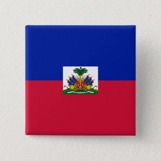 Haiti Flag 2 Inch Square Button