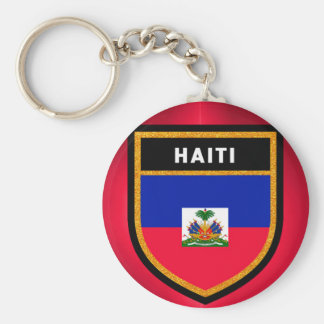 Haiti Flag Basic Round Button Keychain