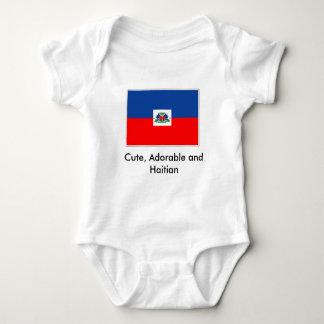 haiti-flag, Cute, Adorable and Haitian Baby Bodysuit