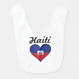 Haiti Flag Heart Bib