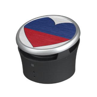 Haiti Flag Heart Bluetooth Speaker