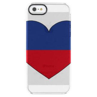 Haiti Flag Heart Clear iPhone SE/5/5s Case
