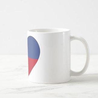 Haiti Flag Heart Coffee Mug