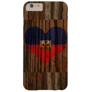 Haiti Flag Heart on Wood theme Barely There iPhone 6 Plus Case