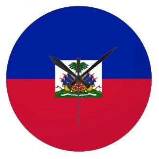 Haiti Flag Large Clock