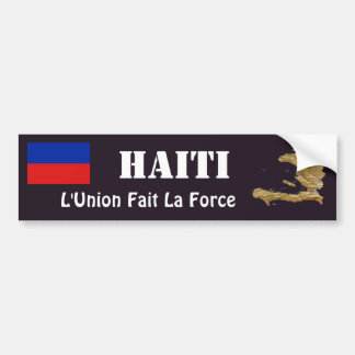 Haiti Flag + Map Bumper Sticker
