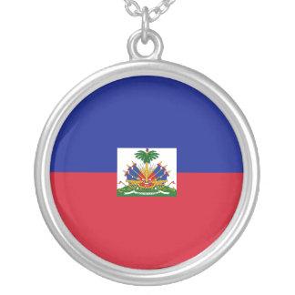 Haiti Flag Necklace