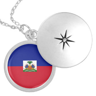 Haiti Flag Necklace