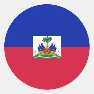 Haiti Flag Round Stickers