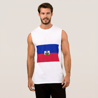 Haiti Flag Sleeveless Shirt