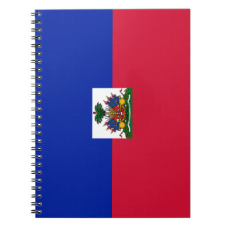 Haiti Flag Spiral Notebook