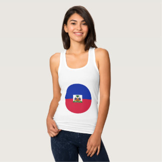 Haiti Flag Tank Top
