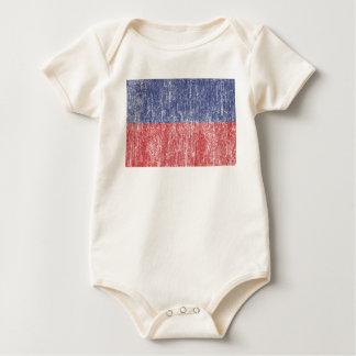 Haiti Flag Vintage Baby Bodysuit