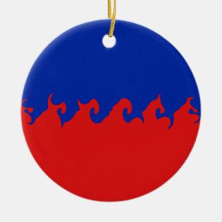 Haiti Gnarly Flag Double-Sided Ceramic Round Christmas Ornament